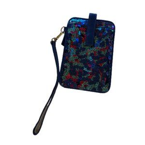 LODIS Leather Sequin Covered Wallet / Wristlet